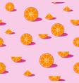 orange fruit seamless pattern background vector image vector image