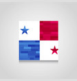 panama abstract flag background vector image