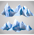paper mountains vector image vector image