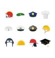 Professions Hats Set for Men vector image vector image