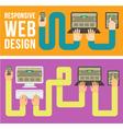 Responsive Web Design Horizontal Banners vector image vector image
