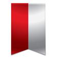 Ribbon banner - polish flag vector image