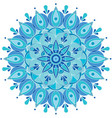 round pattern snowflake vector image vector image