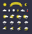 Season and weather icons vector image