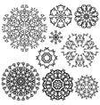 set circle black 1 380 vector image vector image