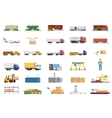 set icons transport logistics concept vector image