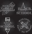 Set of Back to School retro design vector image vector image