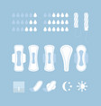 set of feminine hygiene vector image