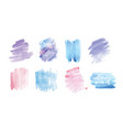 set of smudges or smears hand painted with vector image vector image