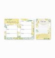 set weekly planner and to-do-list templates vector image