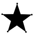 sheriff star icon on white background flat style vector image