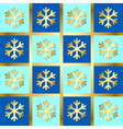 snowflake pattern vector image