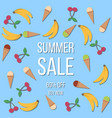 summer sale poster background with tropical vector image vector image