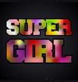 super girl vintage stamp vector image vector image