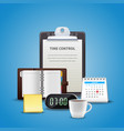 time management realistic concept vector image vector image