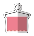 towel hanging in hook vector image vector image
