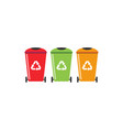 trash can recycle graphic design template vector image