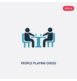 two color people playing chess icon from vector image vector image