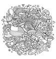 usa hand drawn cartoon doodle vector image vector image