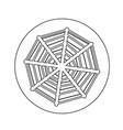 web net spiderweb icon design vector image