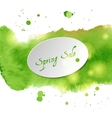 with green watercolor vector image