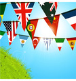 World bunting over sunny spring sky vector image vector image