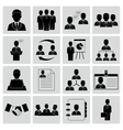 Human resources and management icons vector image