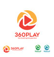 360 degree view player logo vector image