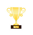 winner gold trophy cup isolated on white vector image