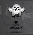 colored halloween card vector image