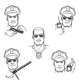Police Officer Emblem Set vector image