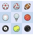 Colored sport balls vector image