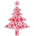 ornate christmas tree vector image