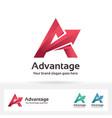 advantage letter a logo vector image vector image