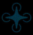 air drone mosaic icon of halftone circles vector image vector image