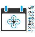 Airdrone Calendar Day Icon With Bonus vector image vector image