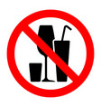 alcohol cocktails stop forbidden prohibition sign vector image