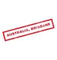 Australia Brisbane Rubber Stamp vector image vector image