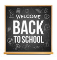 back to school banner design classroom vector image vector image