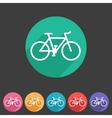 bicycle icon sign symbol logo label set vector image vector image