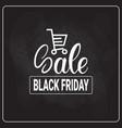 black friday shopping cart on holiday sale logo vector image vector image