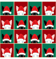 Black White Rabbit Chess board Christmas vector image vector image