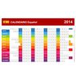 Calendar 2014 Spain Type 14