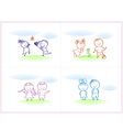 cheerful and happy kids vector image