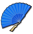 Classic Oriental blue open fan vector image vector image