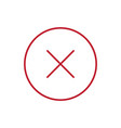 close icon delete symbol vector image vector image