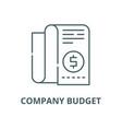 company budget line icon company budget vector image vector image