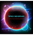 Cosmos space dark background poster print vector image vector image