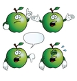 Crying apple set vector image vector image
