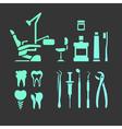 Dental flat icons vector image vector image